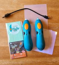 3Doodler CREATE 3D Printing Pen LOT 2 Pens, 1 Charging Cord and Strands