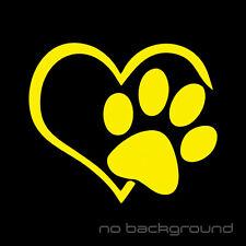 Heart Paw Sticker Vinyl Decal - Dog Cat Pet Puppy Love Wall Decor Car Window