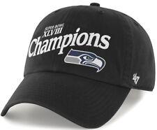 Seattle Seahawks Super Bowl XLVIII Champions 47 Brand Clean Up Adjustable Hat