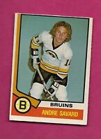1974-75 OPC # 285 BRUINS ANDRE SAVARD  ROOKIE EX-MT CARD (INV#2254)