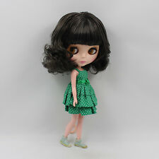 "12"" Nude Blythe Doll from Factory short dark curly hair free shipping new sale"