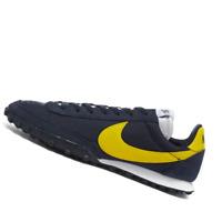 NIKE MENS Shoes Waffle Racer - Obsidian & Chrome Yellow - CN8116-400