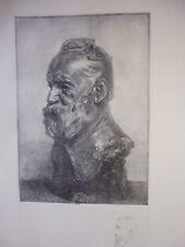 gravure in folio:  VICTOR HUGO  par AUGUSTE-HILAIRE LEVEILLE d'après RODIN