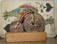 VINTAGE COIN MODEL OF BRUEL BROTHERS PENNY FARTHING BICYCLE - NICE QUALITY