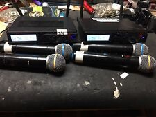 2x Nady U-2100 Dual HT 200-Channel UHF Wireless Handheld Microphone Systems(TWO)