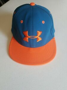 UNDER ARMOUR BASEBALL CAP YOUTH ONE SIZE BLUE AND ORANGE