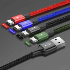 Baseus 3/4in1 For IOS / Micro/Type C Fast Charging Charger Data Sync Cable Cord