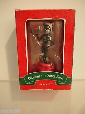 Vintage Warner Bros. Studio Store Catwoman in Santa Sack Ornament Rare Retired