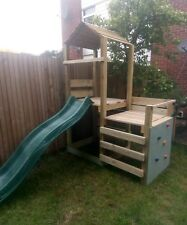 Wooden  Climbing frame, adventure, slide, childrens, adventure, treated