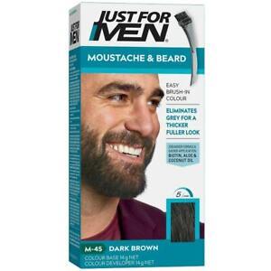 New Just For Men Moustache And Beard Dye Facial Hair Gel Dark Brown