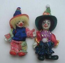 Lot de 2 clowns, tête,mains et pieds en porcelaine,membres articulés G-T4 lot3