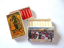 """2 Schachteln Miniatur """"WACHSKERZEN"""" rot & weiß ca.2cm"""