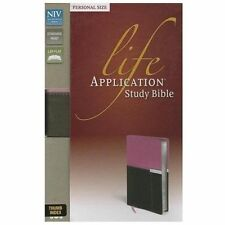 NIV Life Application Study Bible by Zondervan (2013, Imitation Leather, INDEXED)