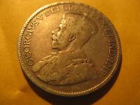 1935 Canada Rare Silver 25 Cent Coin.