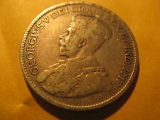 1915 Canada 25 cent twenty five cent silver coin