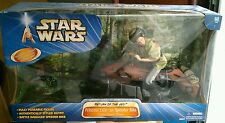 "RARE! Star Wars 12"" 1/6 scale Carrie Fisher as Princess Leia on Speeder Bike"