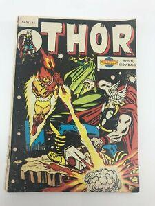 THOR #15 - Turkish Comic Book - 1980s - Very Rare - MARVEL COMICS