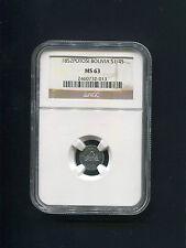 Bolivia Potosi 1852 1/4 Sol Scudo Silver NGC MS63 World Coin Llama South America
