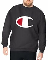 Champion Men's Big and Tall Performance Pullover Crew Neck Fleece