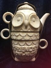 Next Friendship Owl Tea for Two 2 Stacking Mugs & Teapot/ Kettle New