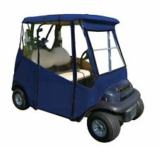 Portable Drivable Golf Cart Cover - Universal 2 Passenger Fit - Blue