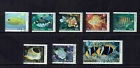 AUSTRALIA DECIMAL...2010 FISHES OF THE REEF.....SET OF 8 STAMPS...GOOD USED