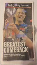 New England Patriots Win Super Foster Daily Newspaper 2/6/17 - Greatest Comeback