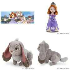 "Disney Store Sofia the First Plush Doll 12"" & Mini Bean Bag Clover Rabbit 7"" Set"