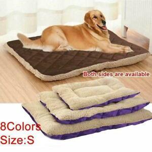Large&Extra Large Fur Dog Beds Pet Washable Zipped Pet Mattress Cushion C7H7
