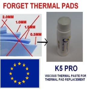 K5-PRO gummy sticky viscus thermal paste grease for thermal pad replacement 10g