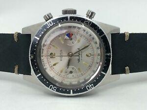 Vintage HEMA Divers Chronograph Mens Watch + Rotating Bezel