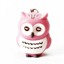 Funny LED Light 3D Cartoon Owl Keyring Sound Hooting Key Chain Key Finder Gift