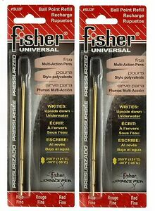 """Two Fisher Space Pen #SU2F / Red Ink """"SU"""" Series Universal Refills"""