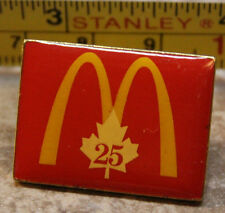 McDonalds 25 Years Canada Service Award Collectible Pinback Pin Button