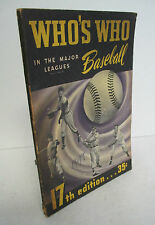 WHO'S WHO In The Major Leagues BASEBALL 1949