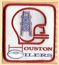 HOUSTON OILERS ~ Willabee & Ward NFL GOLDEN AGE FOOTBALL PATCH & INFO STAT CARD