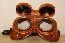 Steampunk Welding Goggles Copper Brass Effect Cosplay Cyber Fancy Dress