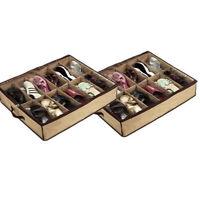 New 4x 12 Pair Shoes Storage Organizer Shoe Bag Box Under Bed Closet