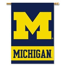 Michigan Wolverines New Logo 96103 28x40 2-sided Banner House Flag University of