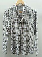 River Island Purple Shirt Size S Checked Flannel Plaid  J1685