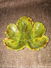 Beautiful Small Ceramic Fall/autumn Leaf Decorative Candy/trinket Dish .