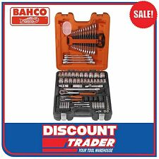 "Bahco 106 Piece 1/4"" & 1/2"" Square Drive Socket & Spanner Set - S106"