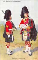POSTCARD  MILITARY   SEAFORTH  HIGHLANDERS  Officer  and  Sergeant