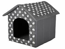 Hobbydog Dog House, Grey with Paws, (60x55x60cm) cosy