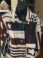 Saddle Ridge Vintage Collection American Frontier Flag USA Jacket Women's Med