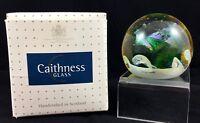 BOXED STUNNING CAITHNESS SCOTLAND PAPERWEIGHT TITLED OCEAN BREEZE