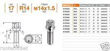 B576/580 20 BULLONI X DISTANZIALI 14x1,5x40-50 X MERCEDES CLASSE A,B,E,M,G,S,GL