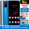 "Note20 Ultra 12+512GB 6.5"" Android10 Smartphone Unlocked 18MP+48MP Mobile Phone"