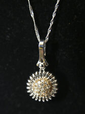 NEW 14ct White & Yellow Gold .30 Carat  Diamond pendant / Necklace RRP: £995