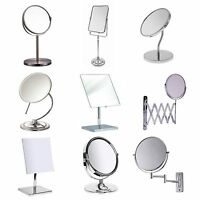 Espejo Del Baño A VARIOS Maquillaje Giratorio Flexible pedestal de mesa pared